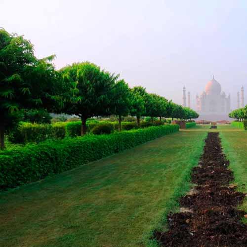 Mehtab Bagh (jardim em frente ao Taj Mahal)