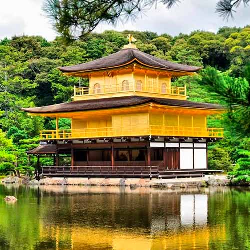 Templo Kinkaku-ji (Pavilhão dourado)
