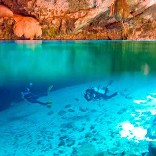 Mergulho Cenote Dos Ojos