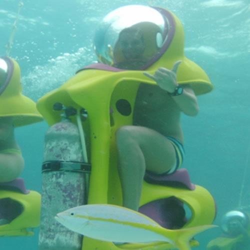 Mergulho com o bob (bolha de observação)